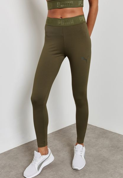 Shop PUMA green Active Essential Banded Leggings 59357814 for Women in  Globally - PU020AT50SZP