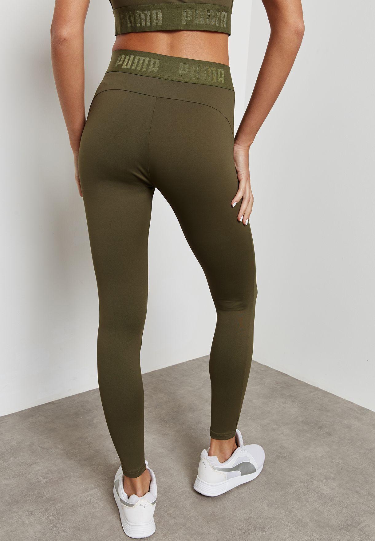 72e005507757 Shop PUMA green Active Essential Banded Leggings 59357814 for Women ...