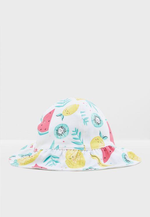 Infant Reversible Printed Hat