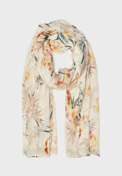 Weaved Floral Scarf