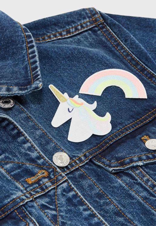 Kids Unicorn Iron on Patches