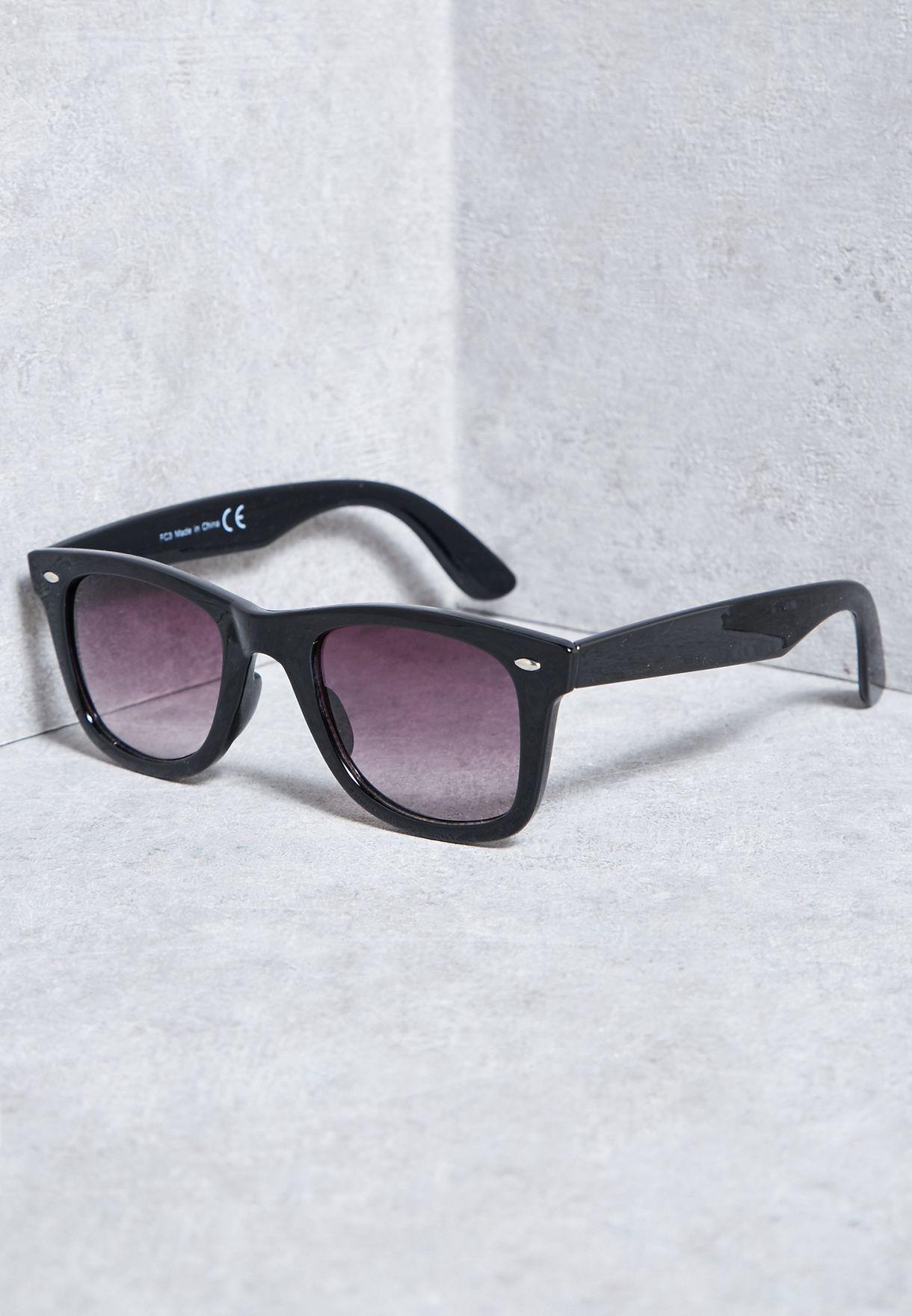 850a9b0c300 Shop Topman black Glossy Sunglasses 56S00PBLK for Men in Qatar -  TO857AC50TFL