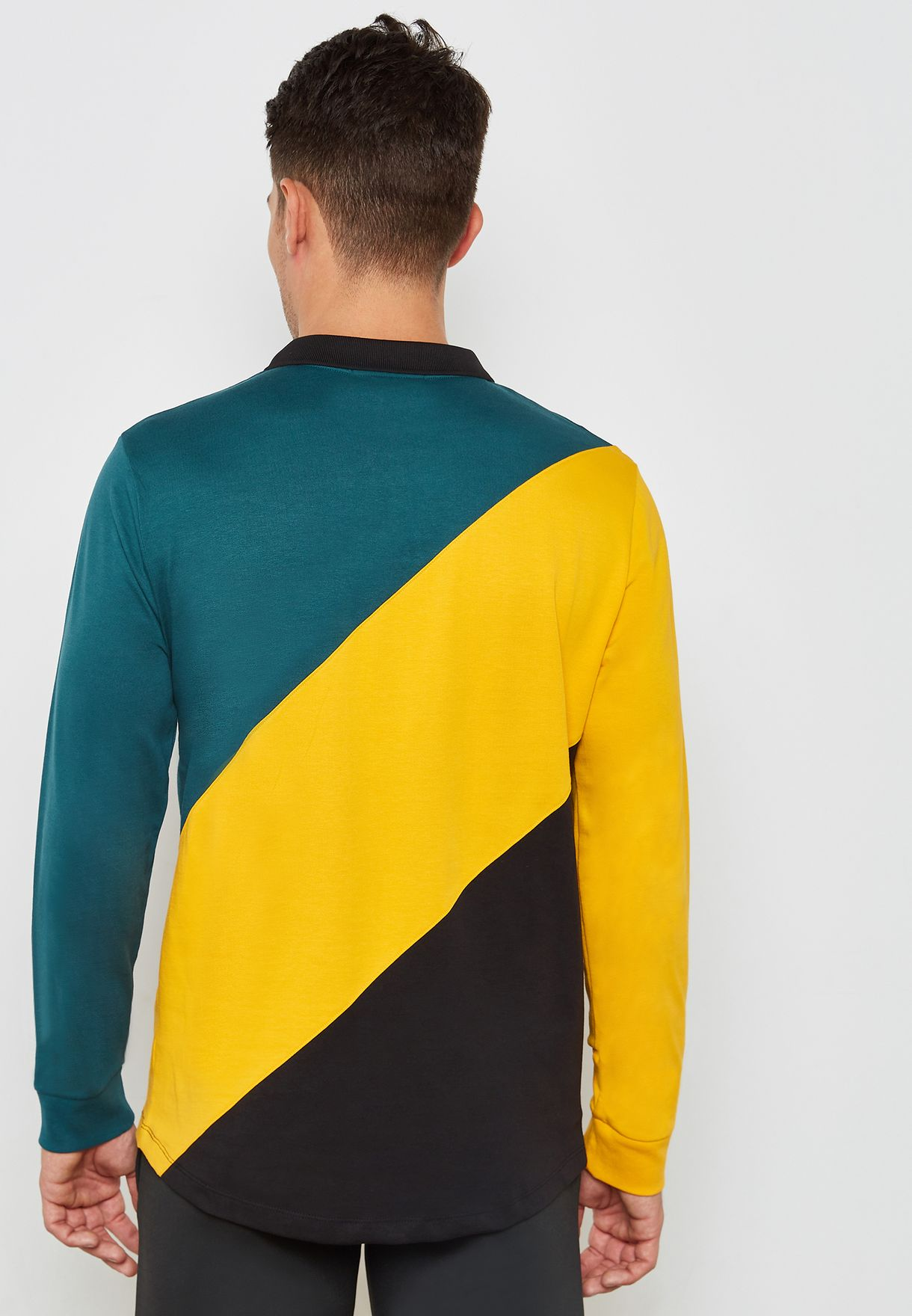 Taygen Colour Block Rugby Polo