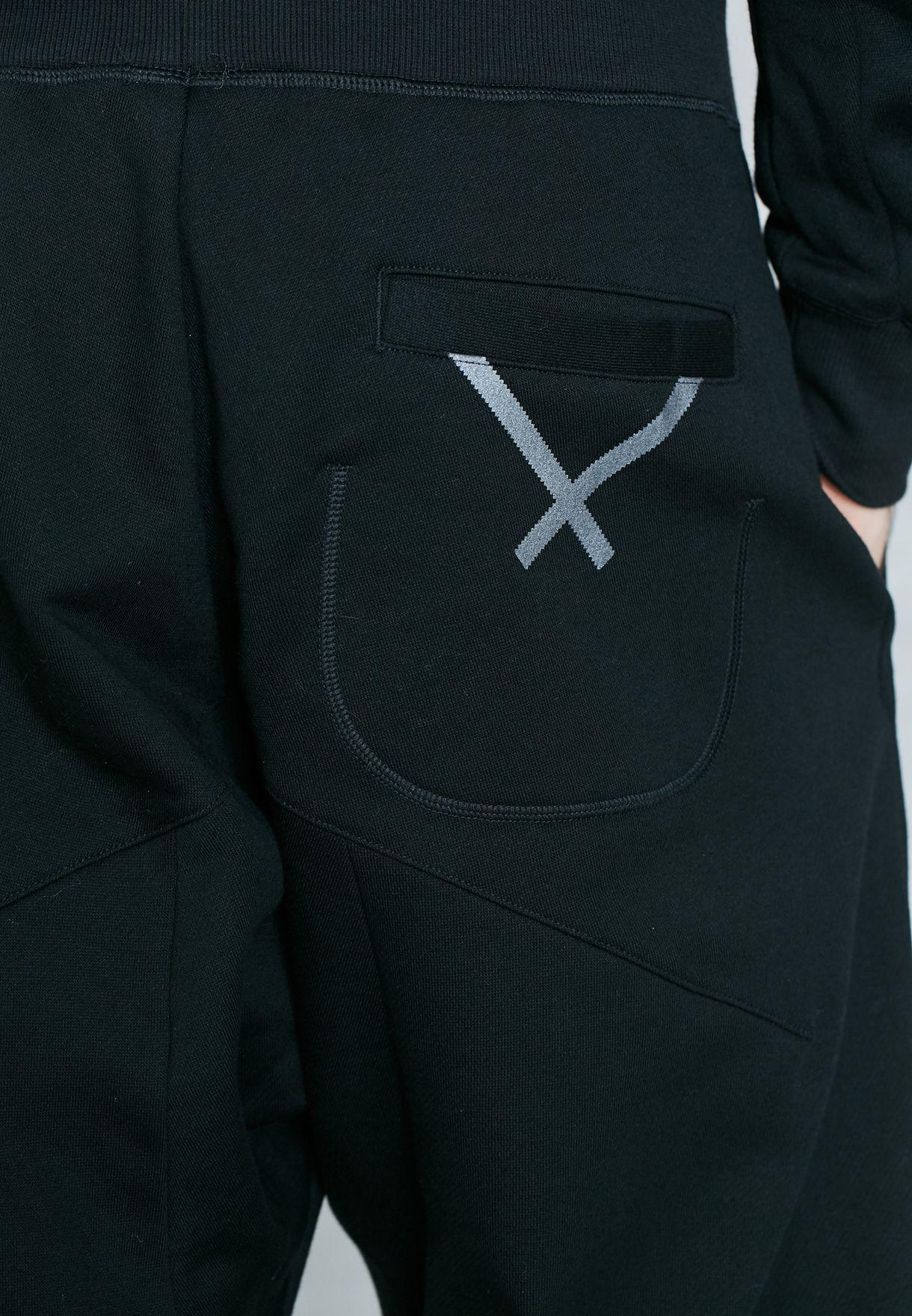 Shop adidas Originals black XBYO 7 8 Sweatpants BQ3103 for Men in ... 8dccd52c87