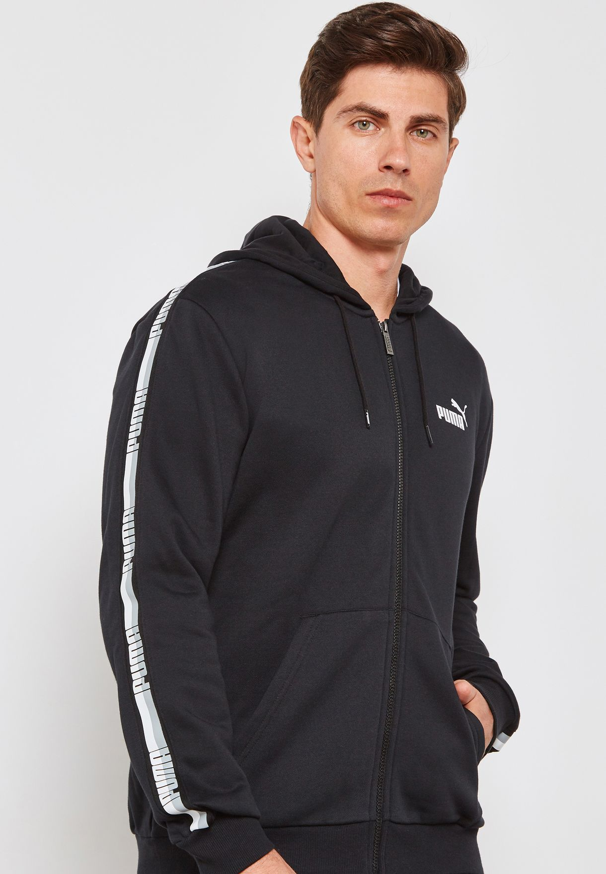 4f571bffd Shop PUMA black Tape Hoodie 85241701 for Men in Globally - PU020AT50BYZ