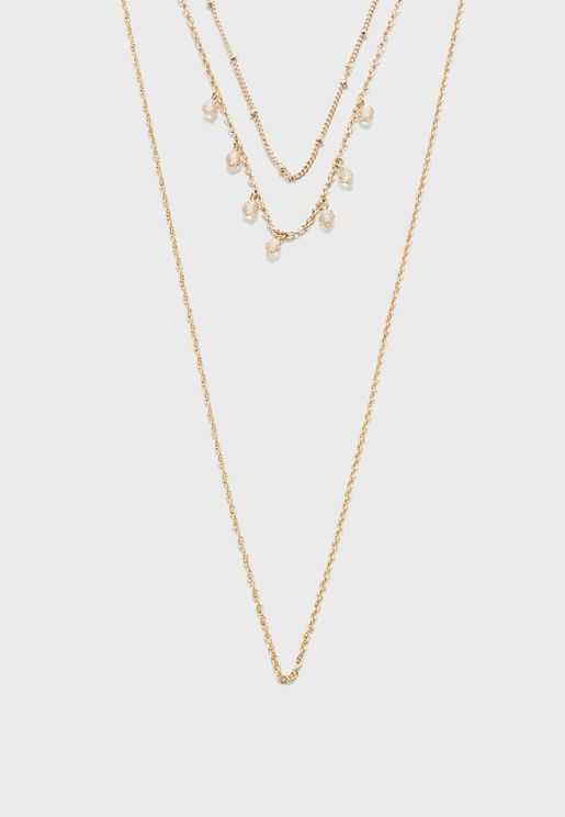 Layered Spiral Chain Necklace
