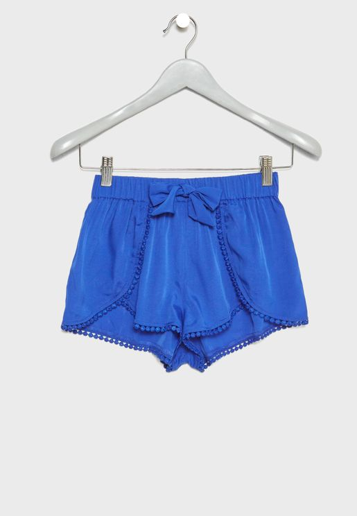 Teen Pom Pom Detail Shorts