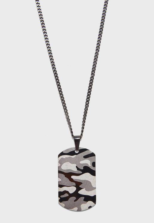 Camo Dog Tag Necklace