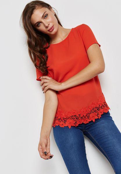 Crochet Hem T-Shirt