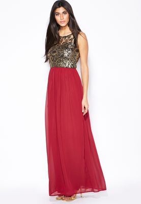 Te Amo Lace Maxi Dress