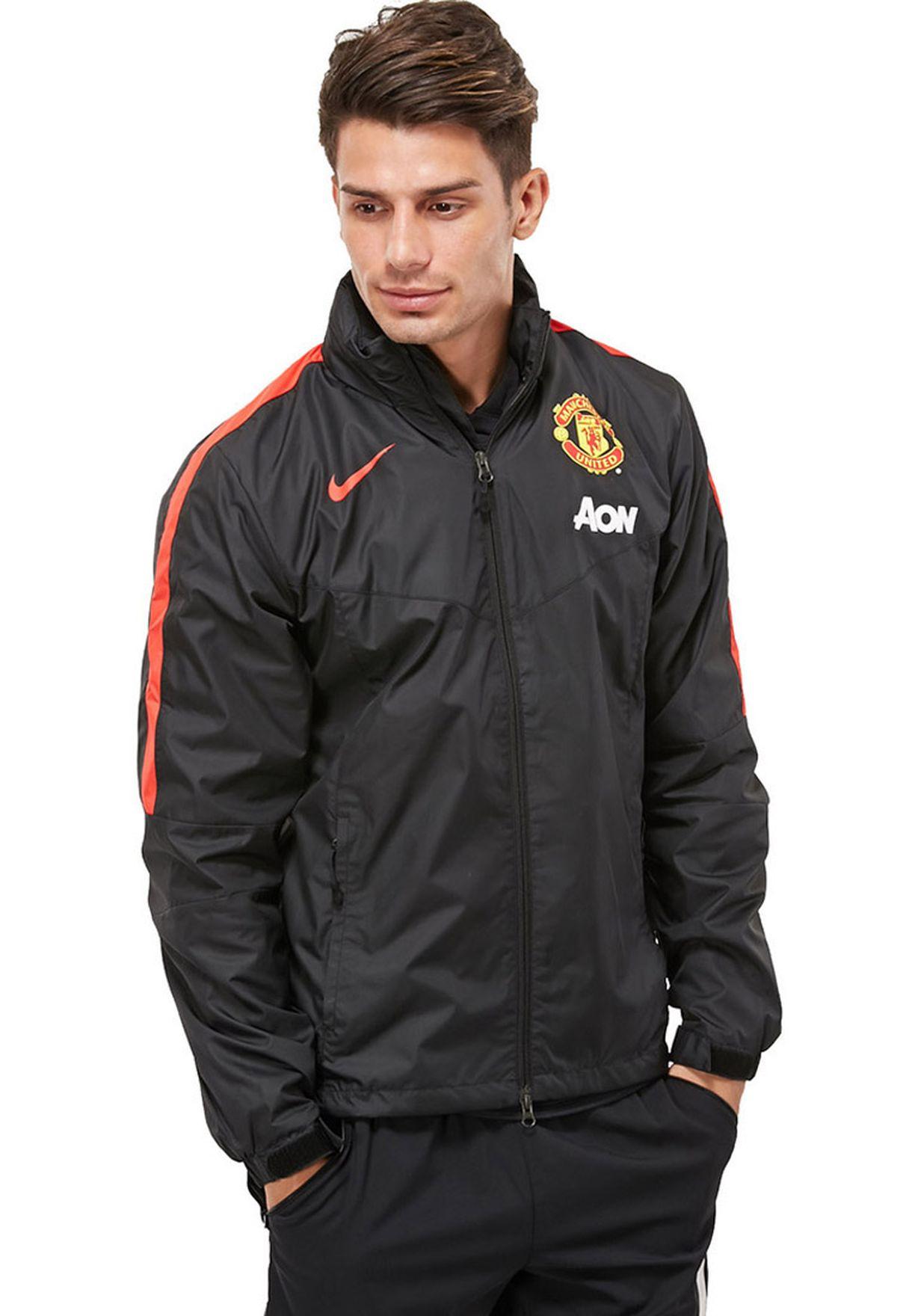 0a2c01f7979e Shop Nike black MUFC Rain Jacket NKAP610485-011 for Men in UAE ...