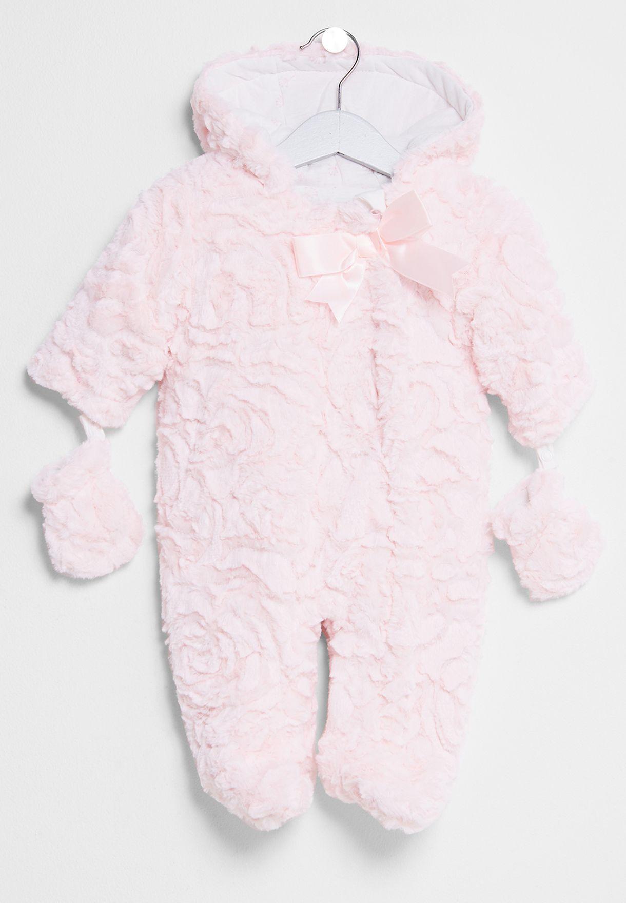 64f74c62a Shop Minoti pink Infant Fur Snowsuit Dandelion 8 for Kids in Bahrain ...