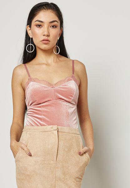 Velvet Lace Detail Cami
