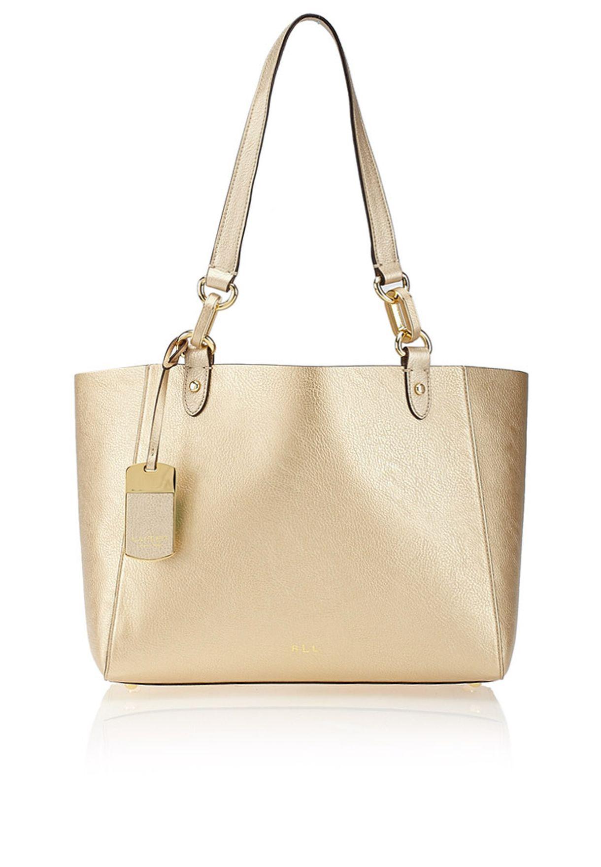 f28942cc1b Shop Lauren Ralph Lauren gold Bembridge Shopper 4311959870FK for ...