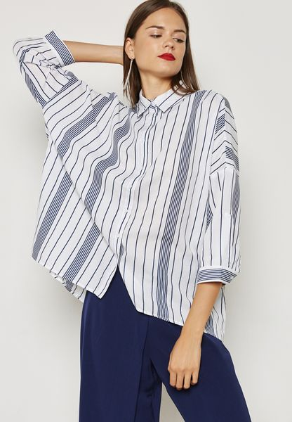 High Low Stripe Shirt
