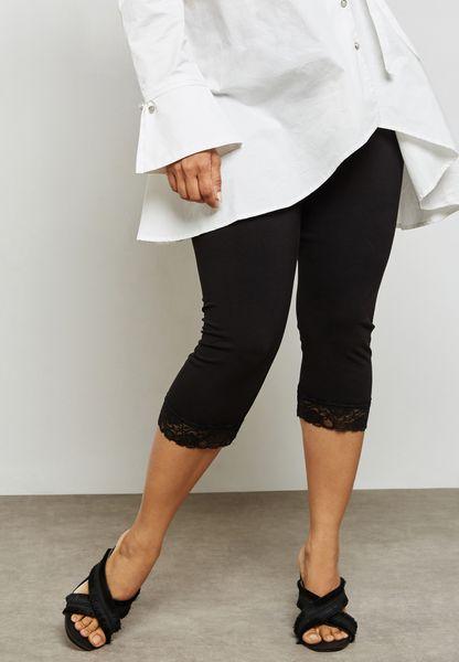 Lace Hem Detail Leggings