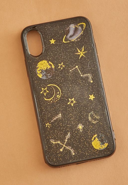 Glitter Planet iPhone-X Case
