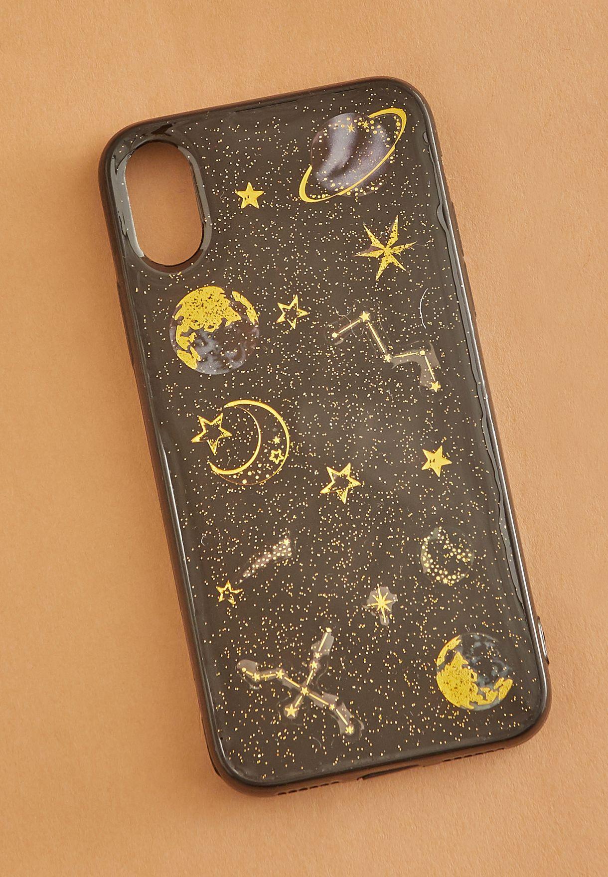 Glitter Planet iPhone-X Case