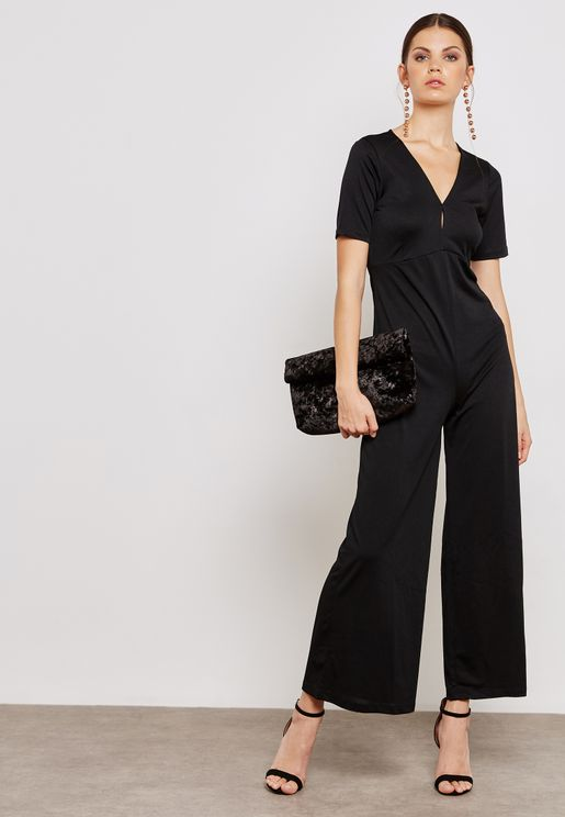 Open Back Detail Jumpsuit