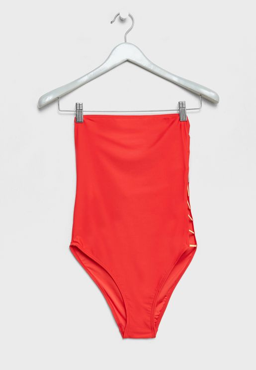 Bandeau Cut Out Detail Swimsuit