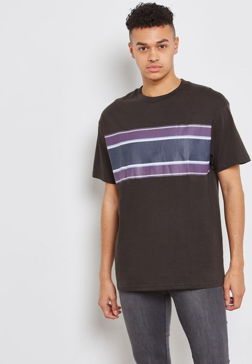 Dylan  Front  Stripe Crew Neck T-Shirt