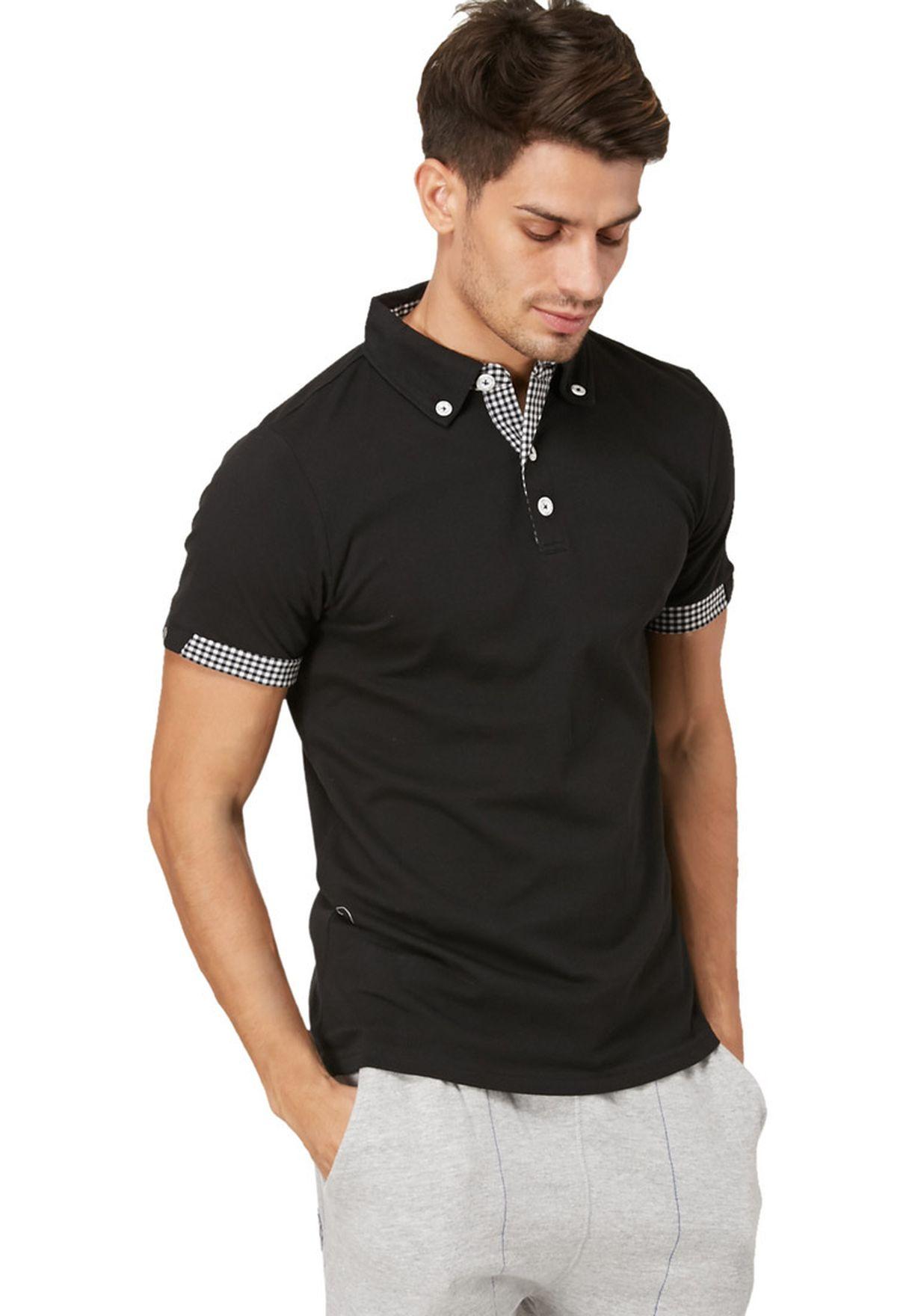 71ab235df تسوق قميص بولو Renzo من القطن البيكيه ماركة كارتر لون أسود في قطر ...
