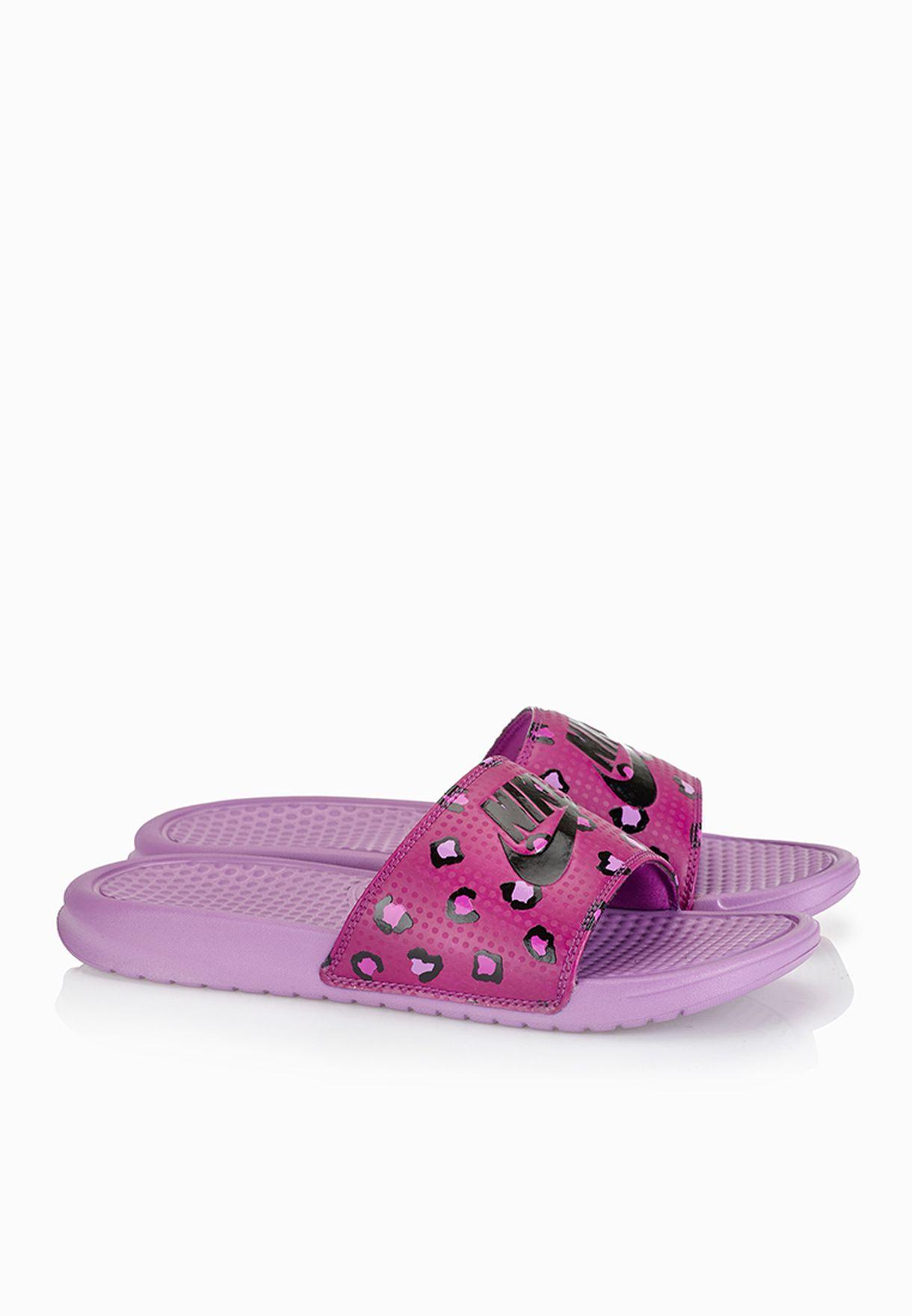 3e3876adb3a6e0 Shop Nike purple Benassi Jdi Print Slides 618919-506 for Women in Oman -  NI727SH50ZLH
