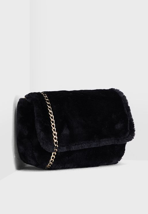 Faux Fur Crossbody