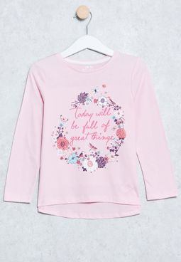 Little Floral Print T-Shirt