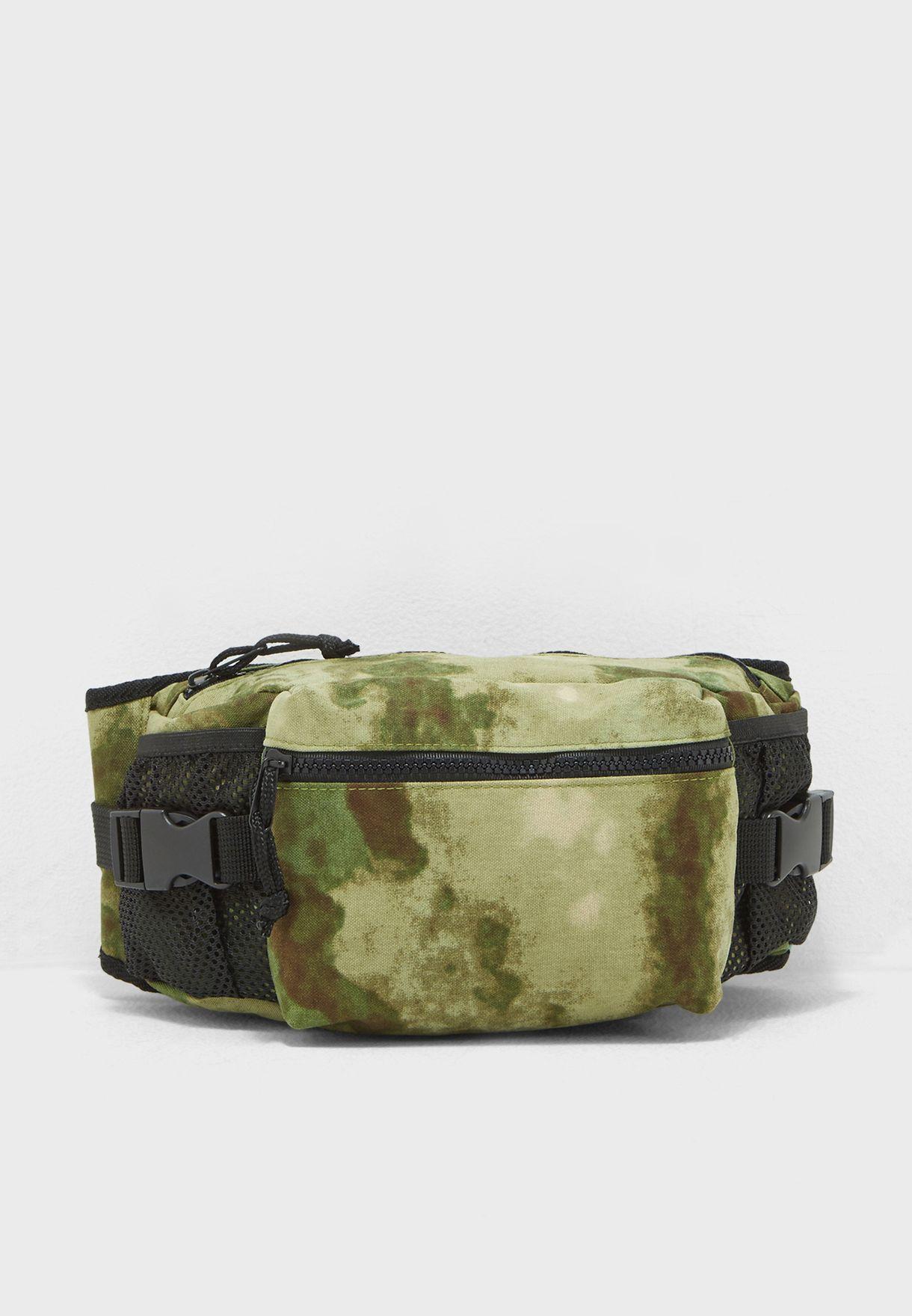 58f1ac7250c0 Shop Topman prints Camo Print Waist Bag 56T24PGRN for Men in ...