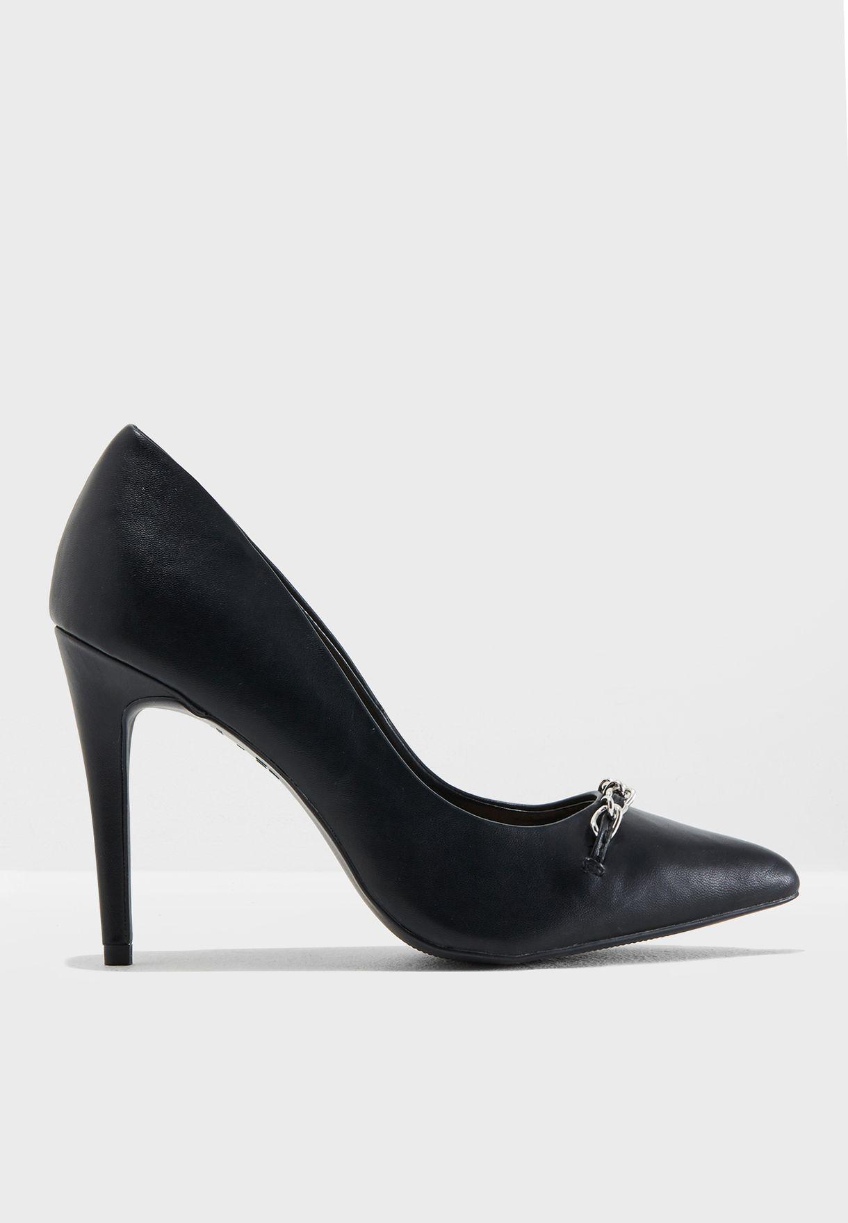 299b3ba3484e2 تسوق حذاء بكعب مستدق ماركة نيو لوك لون أسود 593282501 في السعودية ...