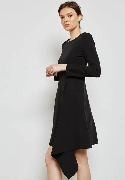 One Side Button Detail Dress