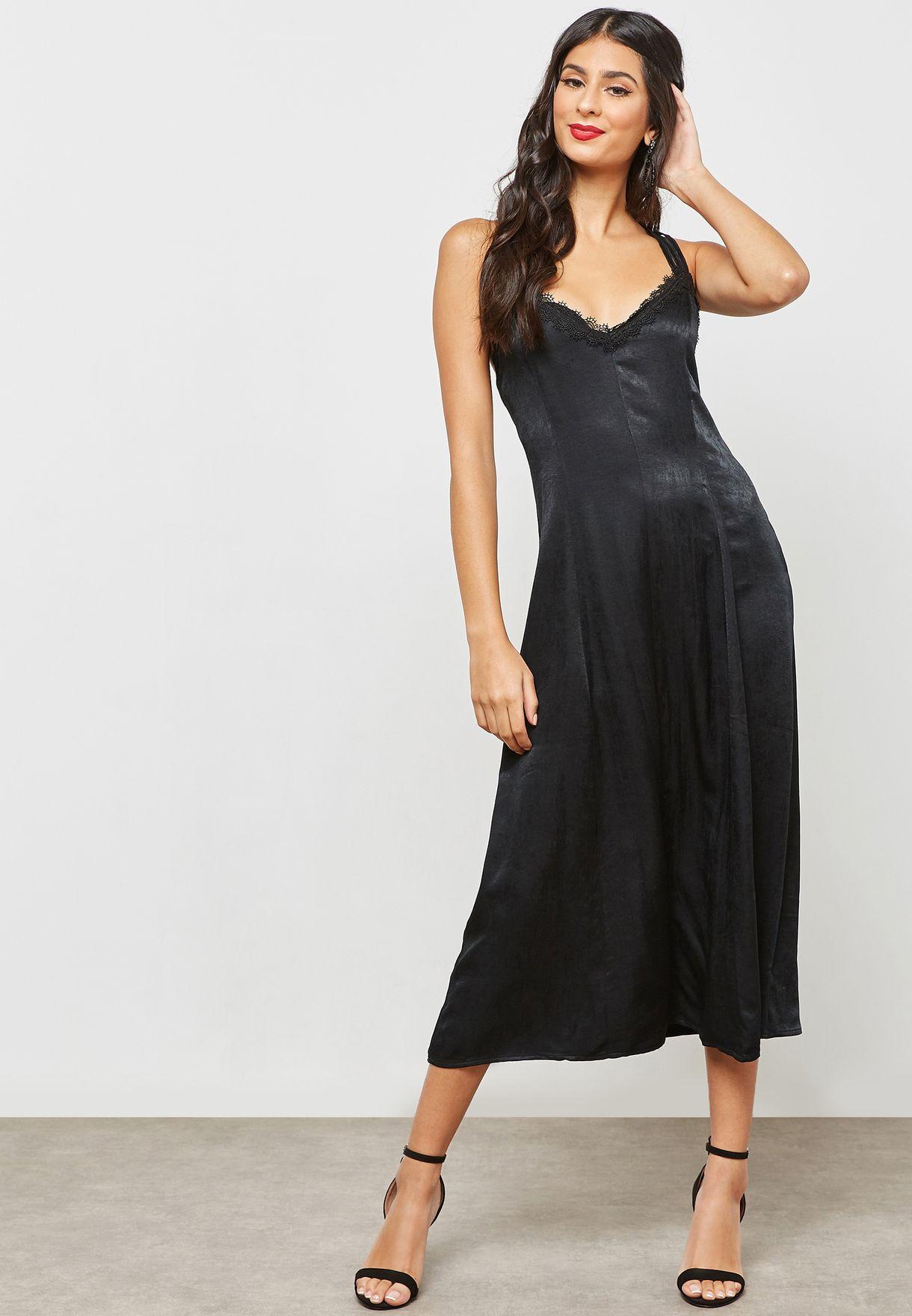 Strappy Crisscross Back Dress