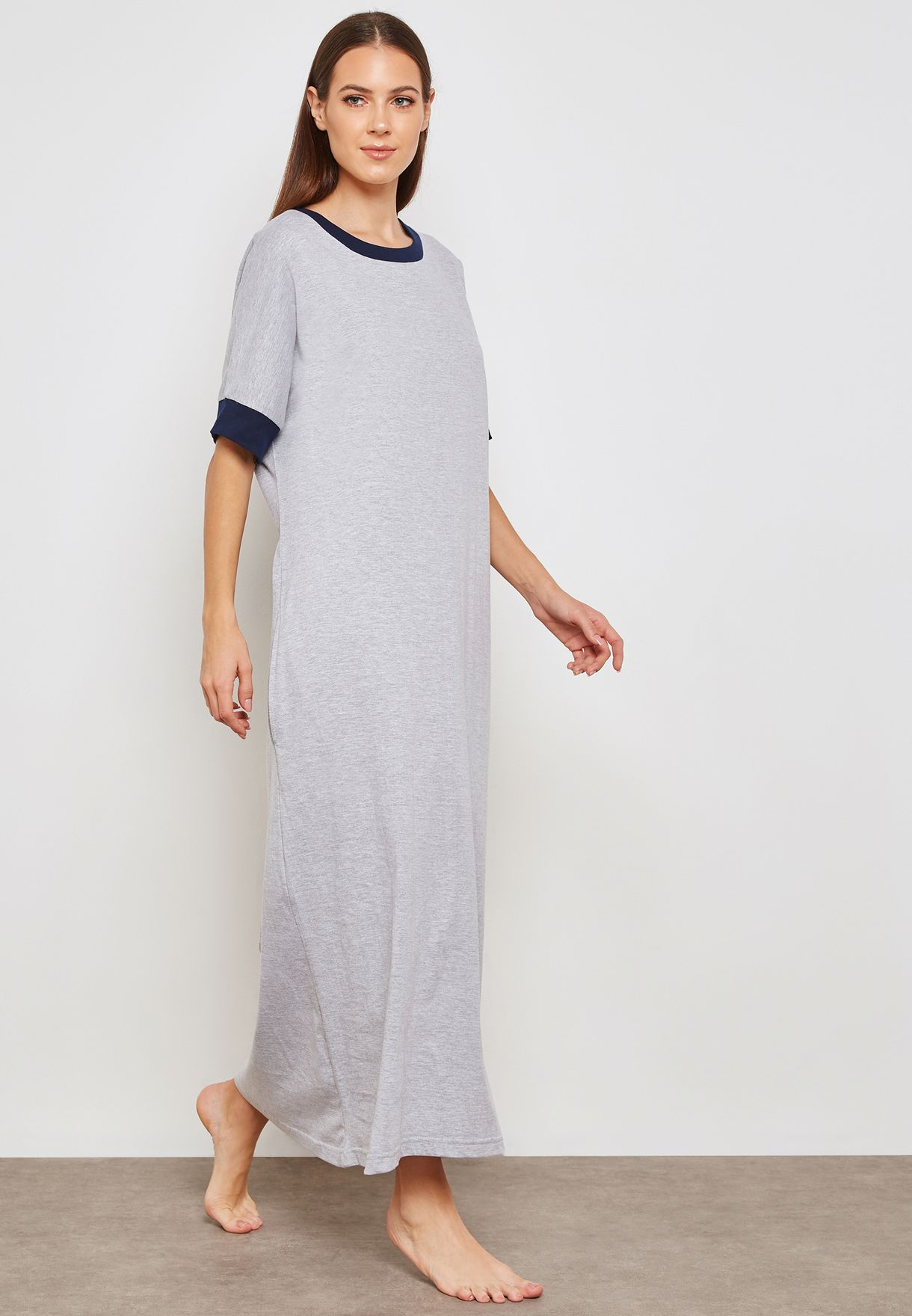 Contrast Trim Nightdress
