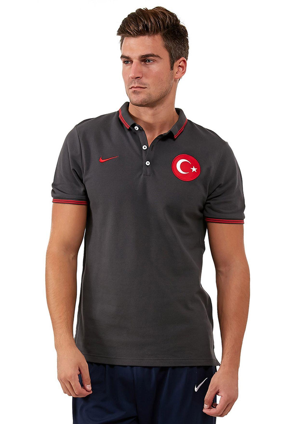 9c4be25b3 تسوق قميص بولو Turkey Auth ماركة نايك لون رمادي NKAP605345-060 في ...