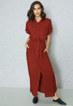 Pocket Shirt Maxi Dress