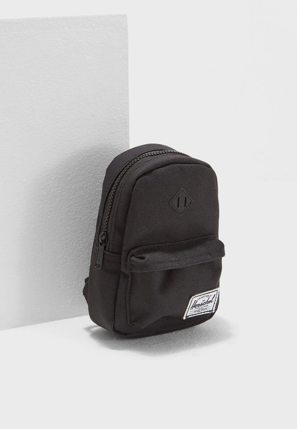 10c044e763e Shop Herschel black Mini Heritage Backpack 10249-01168-OS for Kids ...
