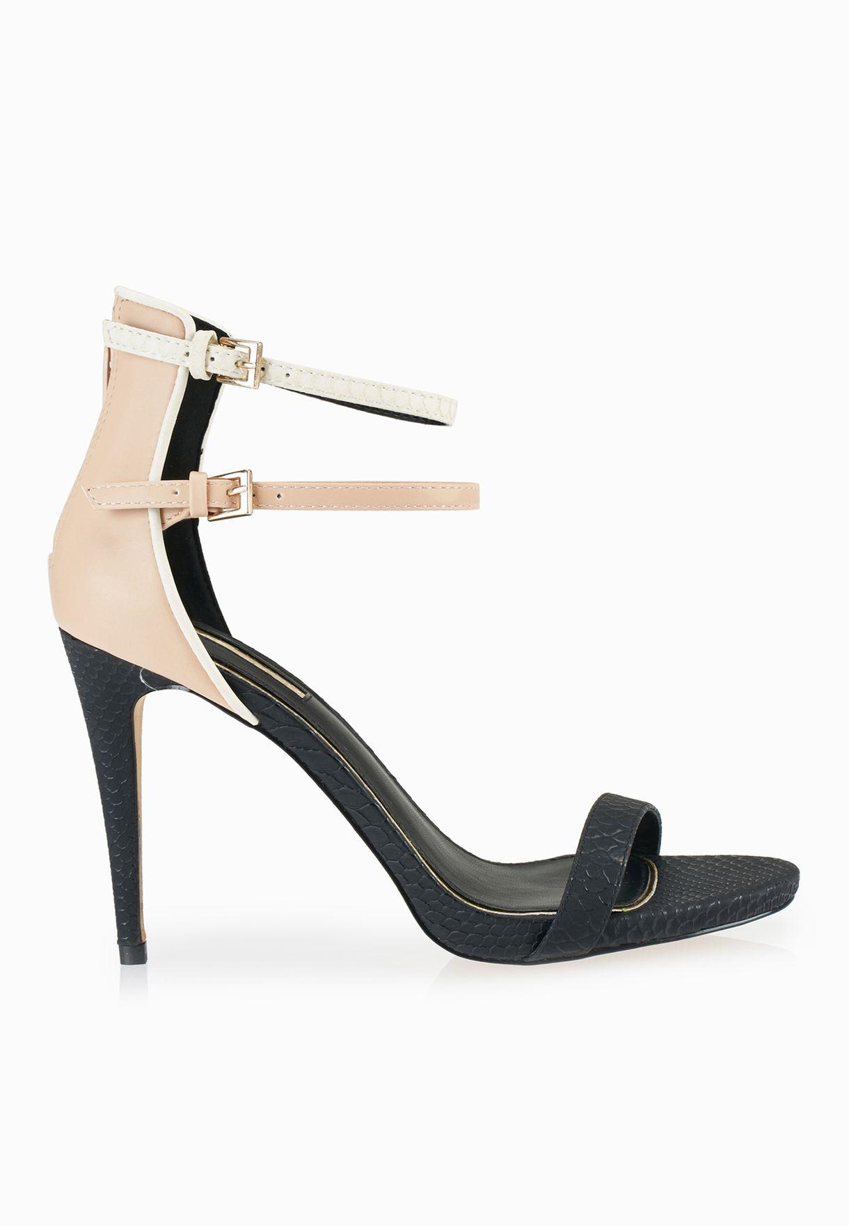 febb5969deabcd Shop Miss Selfridge multicolor Cassie Double Ankle Strap Sandals 51C10SMUL  for Women in Kuwait - MI858SH50HBH