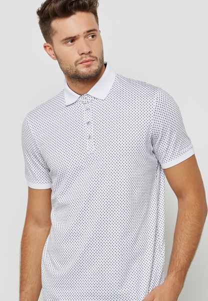 Boxer All Over Geo Print Polo