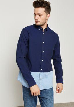 قميص بلونين