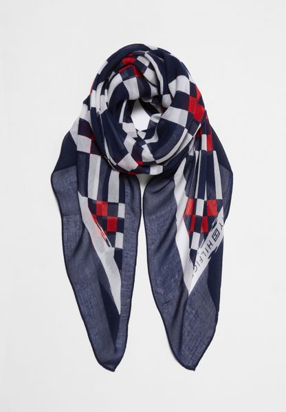 Geo Check Scarf