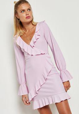 Ruffle Plunge Dress