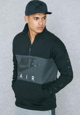 Air Half Zip Fleece Sweatshirt