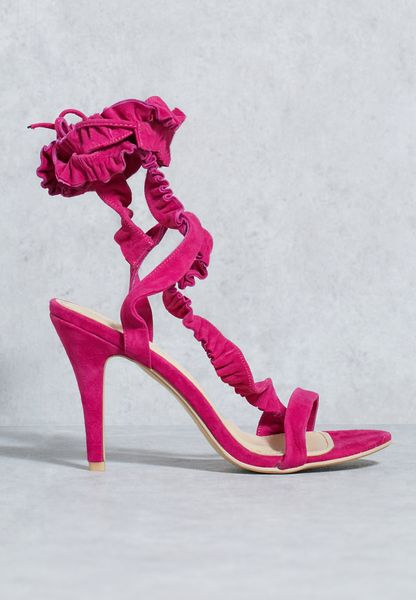 Ruffle Stiletto Sandal