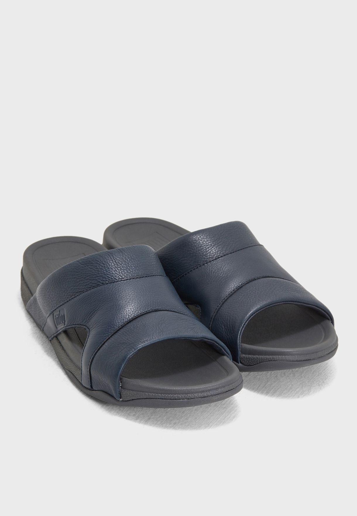 Freeway Leather Slide