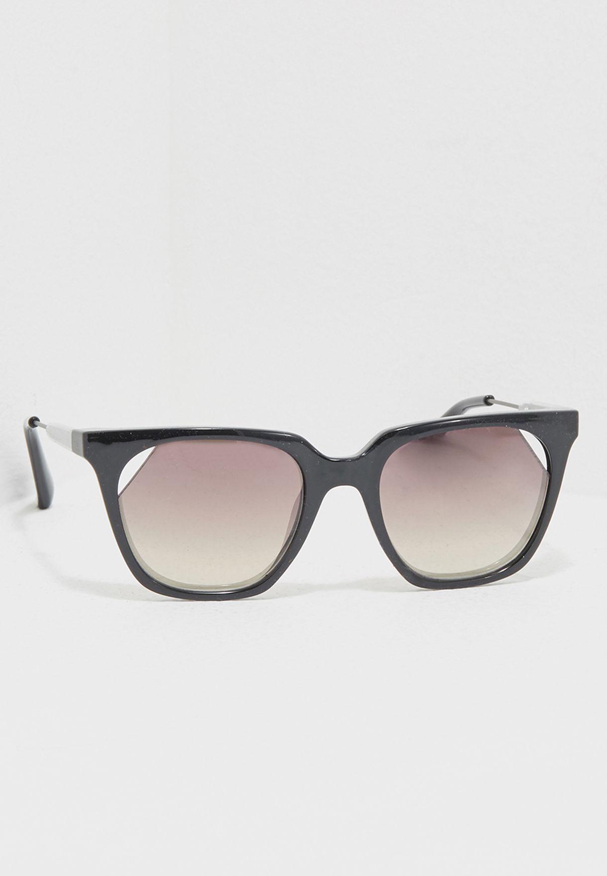 9d66d59e22 Shop Calvin Klein Jeans black Cut Lens Sunglasses CKJ509S-001 for ...