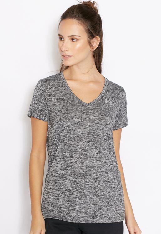 Technical V-Neck T-Shirt