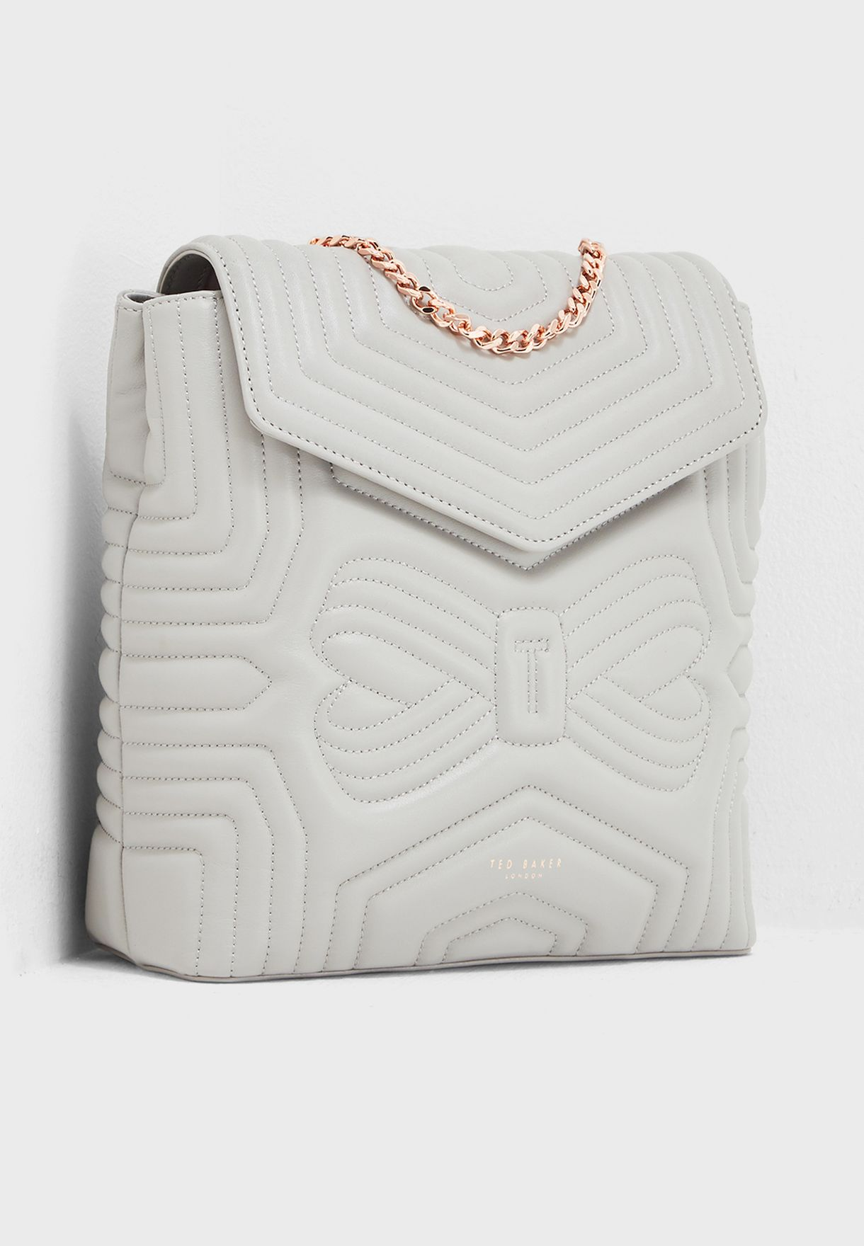 9044aeb21cc7 Shop Ted baker grey Quilted Bow Backpack 147059 for Women in UAE -  TE456AC40XBN