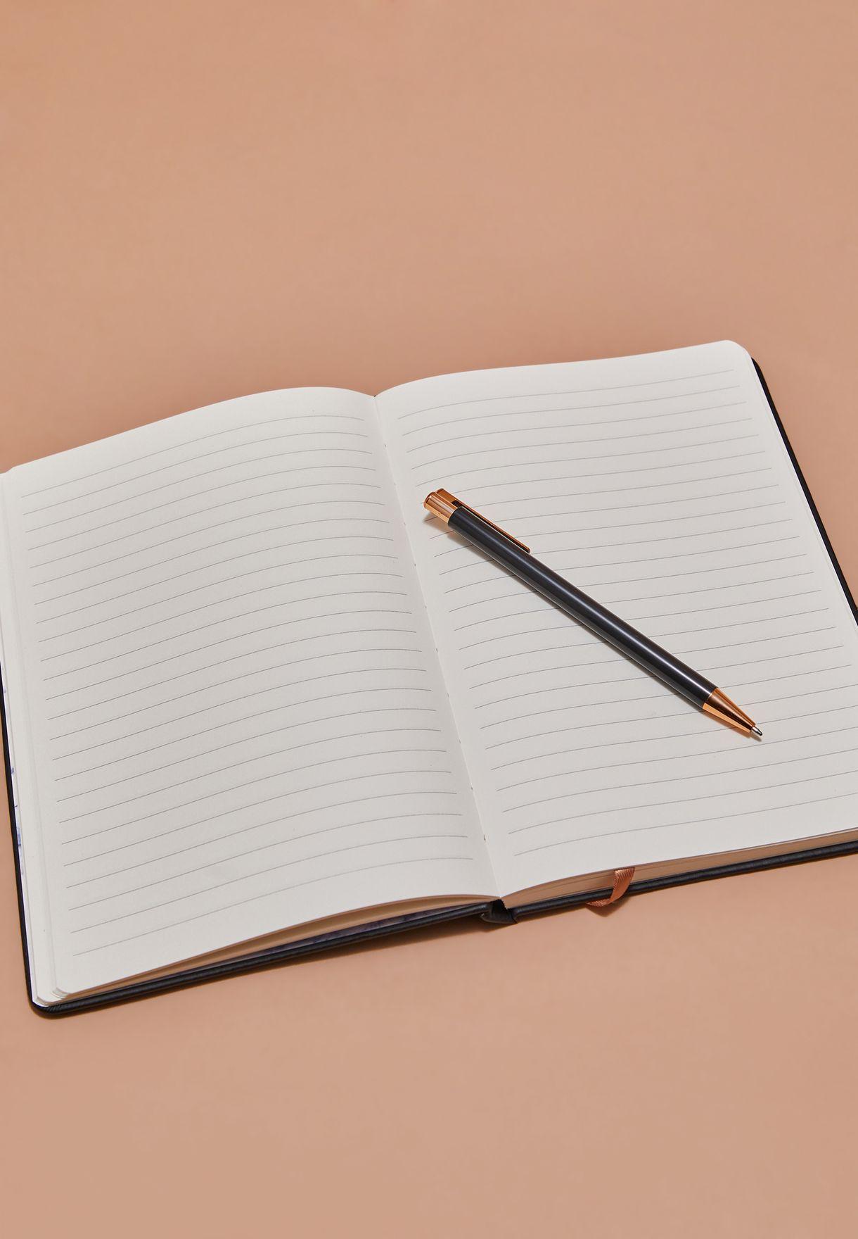 مجموعة دفتر ملاحظات برج الدلو مع قلم