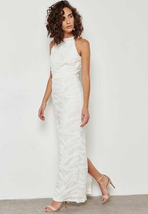 Back Split Maxi Dress
